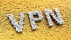 VPN afgebeeld in blokkerige letters